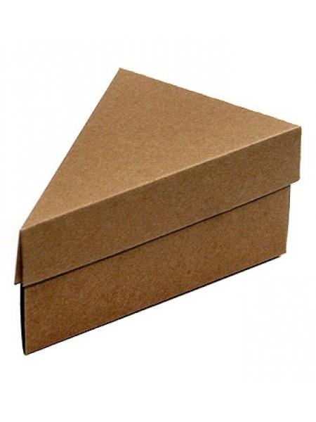 Коробка крафт эко 146/93 тортик 15  х 10  х 7 см крышка+дно