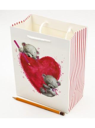 Пакет ламинированный Мишка 18 х 23 х 10 см цвет микс HS1806-M HS-4-3