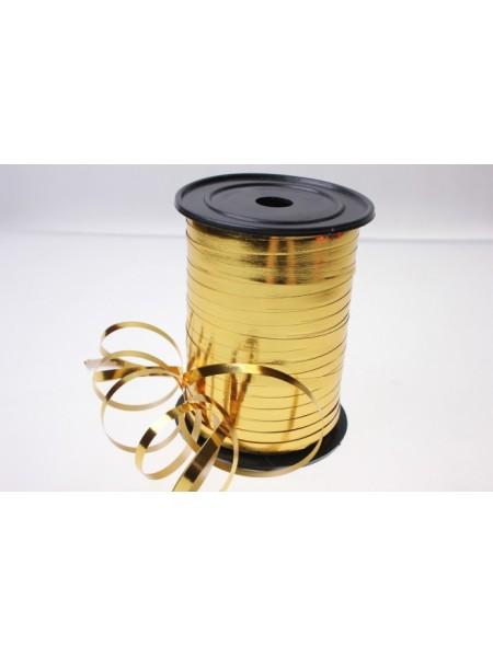 Лента металл 0,5 см х 250 ярд цвет золото