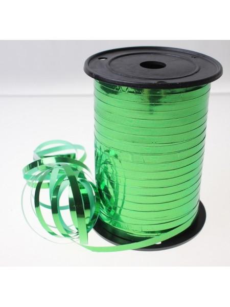 Лента металл 0,5 см х 250 ярд цвет зеленый