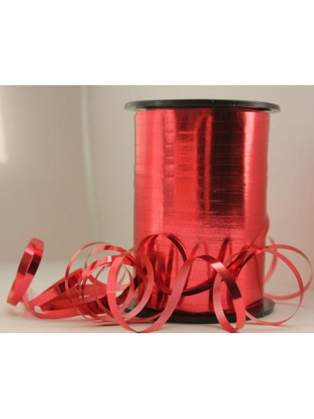 Лента металл 0,5 см х 250 ярд цвет красный