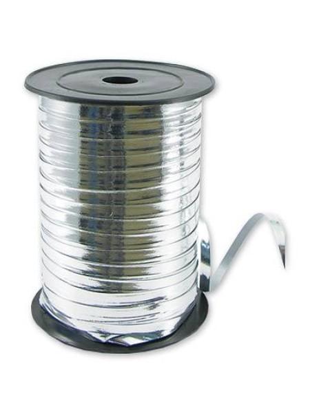 Лента металл 0,5 см х 250 ярд цвет серебро