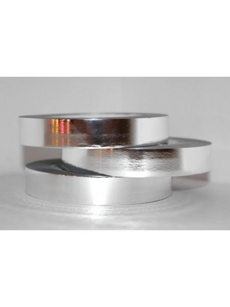 Лента металл 2 см х 50 ярд цвет серебрянный М210