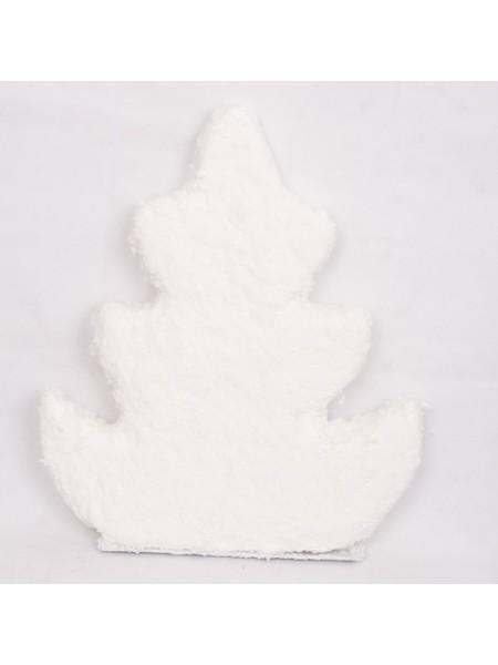 Елка 55 см фигурная вискоза белый
