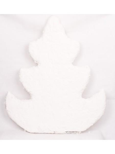 Елка фигурная 90 см вискоза белый