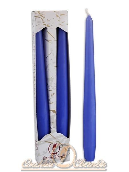 Свеча античная набор 2 шт цвет голубой