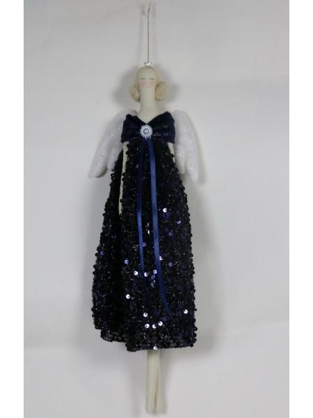Ангел 46 см цвет темно-синий ткань