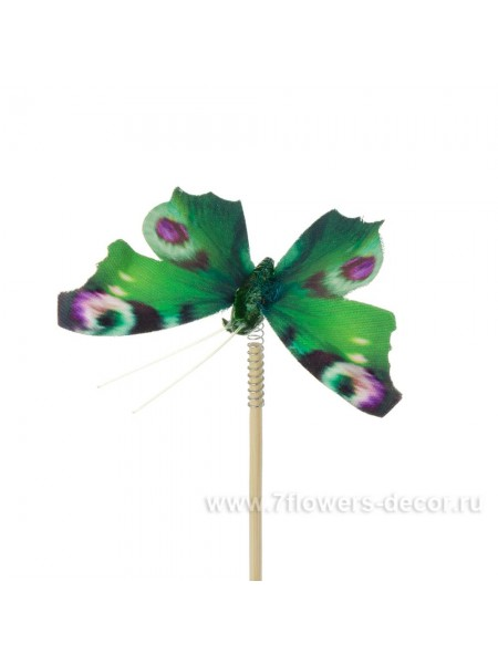 Бабочка Auralia на вставке 8 х 50 см цвет Зеленый Арт.К40597
