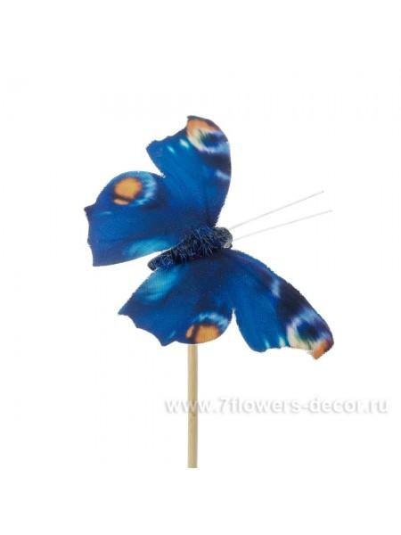 Бабочка Auralia на вставке 8 х 50 см цвет Синий Арт.К40598