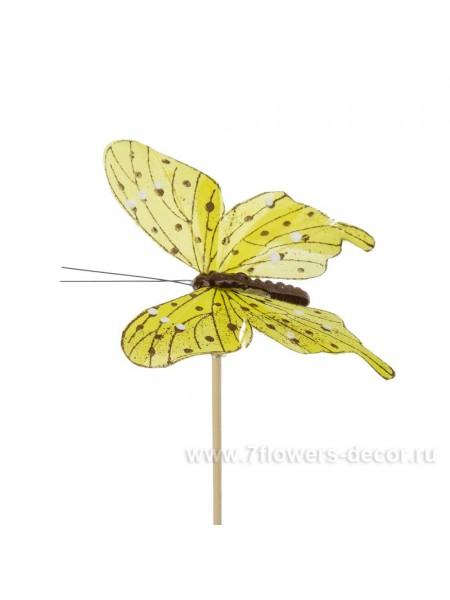 Бабочка Tropicana на вставке 8 х 50 см цвет Желтый Арт.К31110