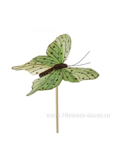 Бабочка Tropicana на вставке 8 х 50 см цвет Зеленый Арт.К31115