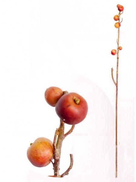 Ветка декоративная с яблоками 113см