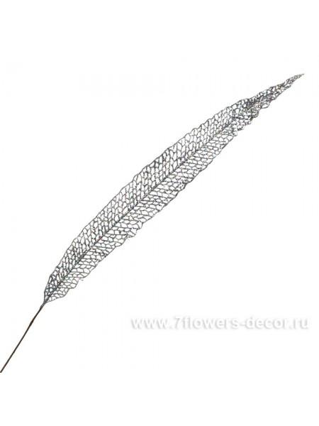 Ветка 112 см пластик цвет серебряный EYK9-238#1