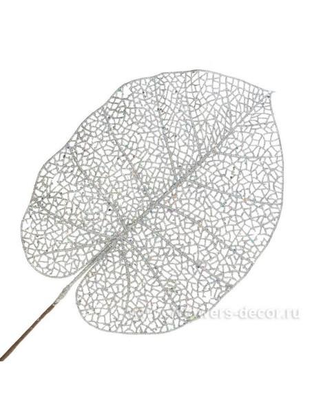 Ветка 65 см пластик цвет серебряный EYK9-544-1