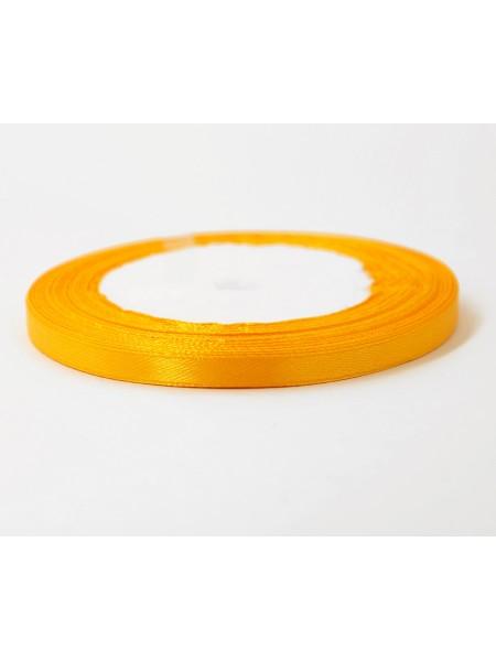 Лента атлас 0,6 см х 25 ярд цвет оранжевый