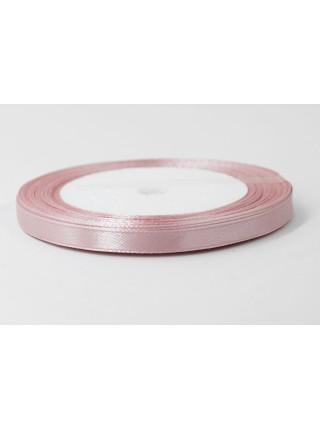 Лента атлас 0,6 см х 25 ярд цвет розовый