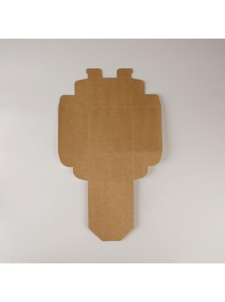 Коробка крафт складная 12 х 8 х 12 см