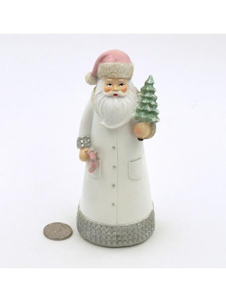 Дед Мороз в розовой шапочке h=17,5 см керамика HS-16-6
