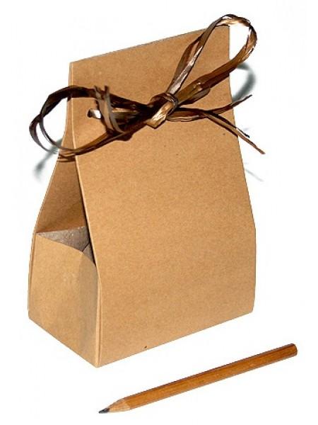 Коробка крафт эко 103/01 под конфеты 11 х 6,5 х 17 см