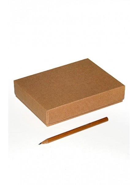 Коробка крафт эко 113/01 прямоугольник крышка и дно 14,5 х 10,5 х 3 см