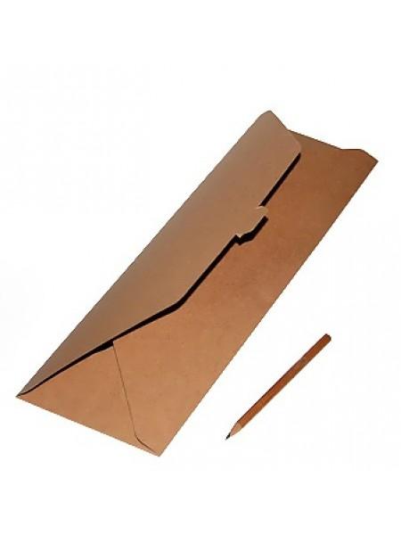 Коробка крафт эко 114/01 под галстук/платок 40 х 13 см