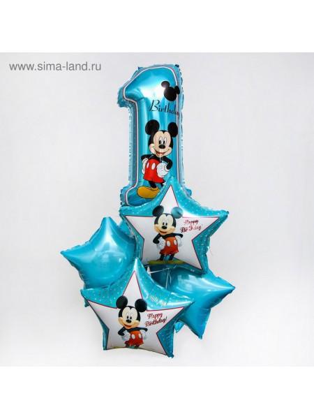 Набор шаров Микки Маус набор 5 шт Happy Birthday