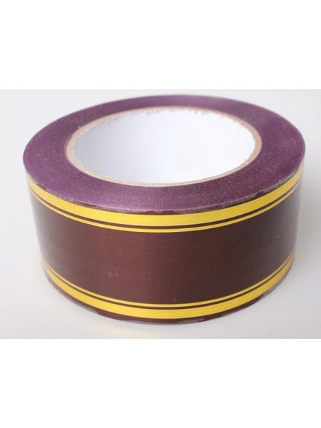 Лента с золотой полосой 5 см х 50 ярд цвет Бордо