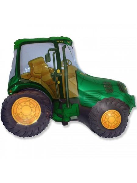 """Фольга шар Трактор зеленый 37""""/92,5 см 1 шт Испания"""