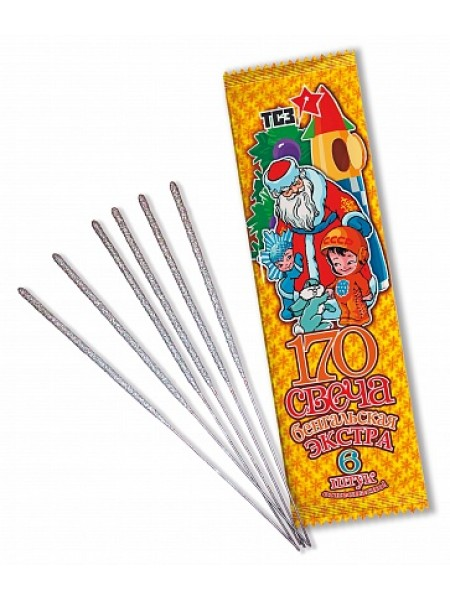 Свечи бенгальские 17 см 6 шт 30 сек
