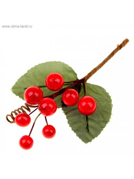 Декор для творчества  Букетик с ягодками 13,5см