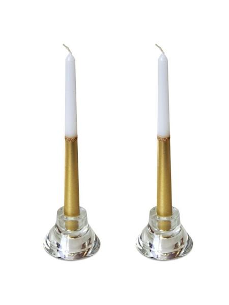 Свеча античная набор 2 шт цвет золотисто-белый