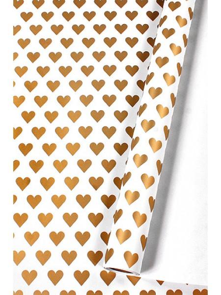 Бумага капелла 40/458-75 эко лямур золотой на белом 100 см х 10 м рулон