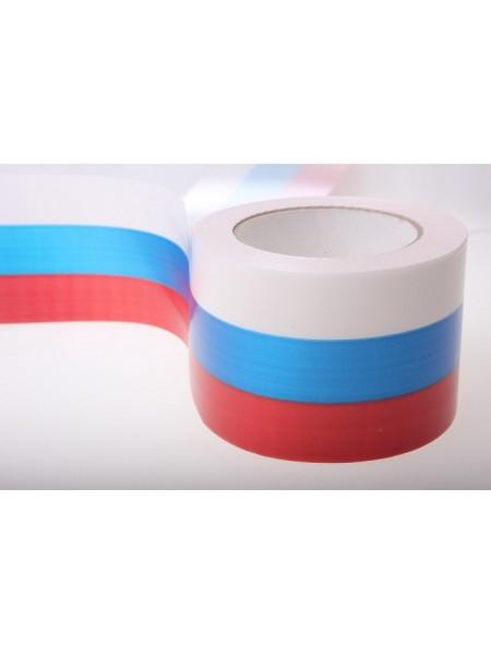Лента простая 8 см х 50 м Российский флаг