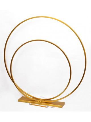Стойка Спираль набор 2 шт d1=36/55 см, d2=54/75 см металл цвет золотой HS-13-7