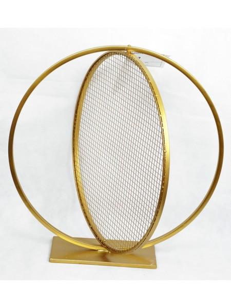 Стойка Круг с сеткой d=60 см металл цвет золотой HS-13-6