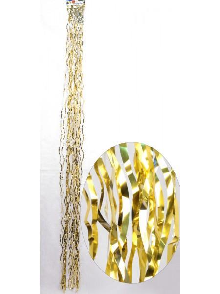 Дождик волна простой 1,5 м цвет золотой HS-15-6