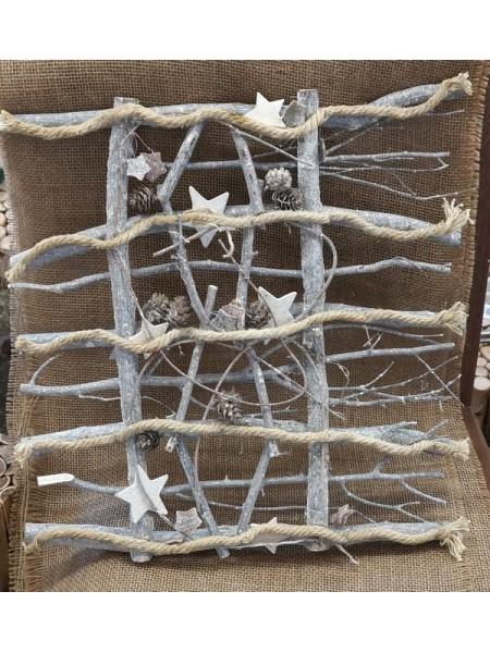 Забор дерево  45 х 45 см