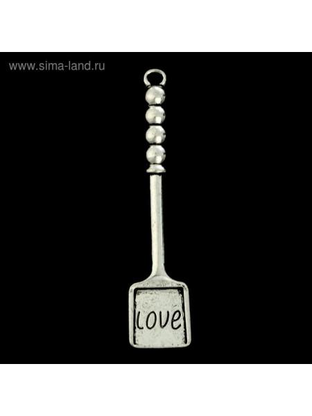 Сувенир кошельковый металл Лопатка с надписью LOVE 7 х 1,5 см