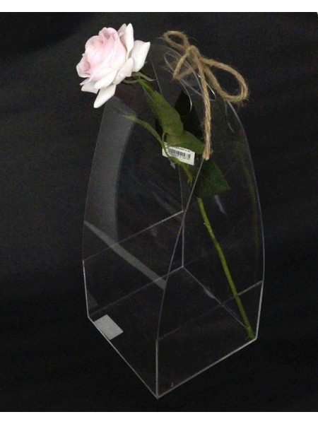 Акриловый бокс-сумка для цветов 39,5 х 14,5 х 14,5 см