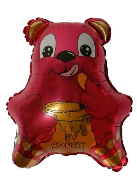 "Фольга шар Медвежонок с медом фуксия 21""/52,5 см 1 шт Испания"