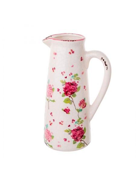 Кувшин Розы керамика H20 см цвет белый 1019731