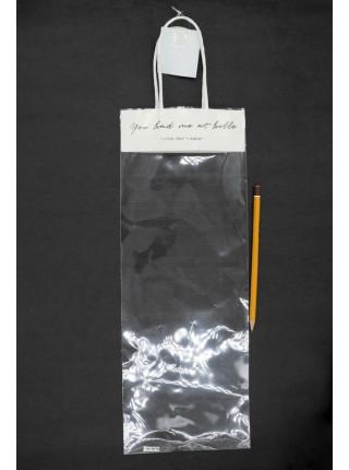 Пакет прозрачный I love you с ручками 55 х 15 см HS-10-5