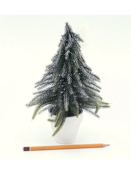 Елка 26 см в горшочке блеск пластик цвет зеленый  HS-35-9