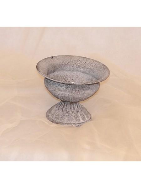 Вазон волна mini металл 13 х 9,5 см