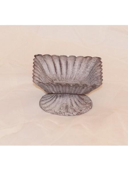 Вазон волна квадрат mini металл 9 х 9 х 5 см