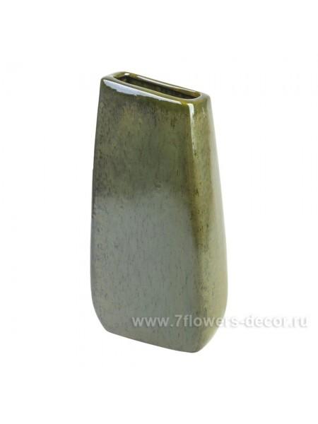 Ваза керамика 12 х 6 х Н30 см цвет зеленый Арт. 29 736-30