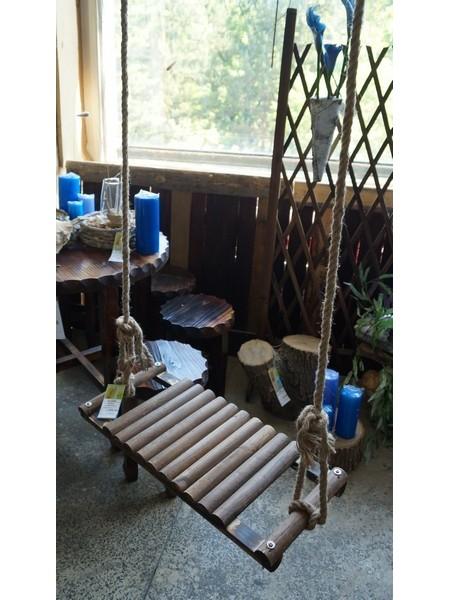 Качеля декоративная деревянная 27 х 60см канат 4м