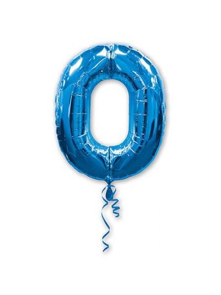 Фольга шар Цифра 0 Blue 34